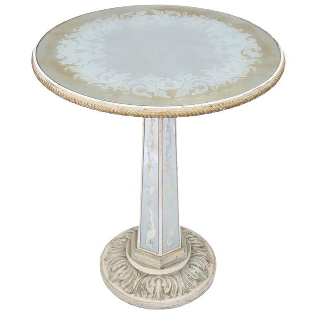 Italian Églomisé Occasional Pedestal Table For Sale