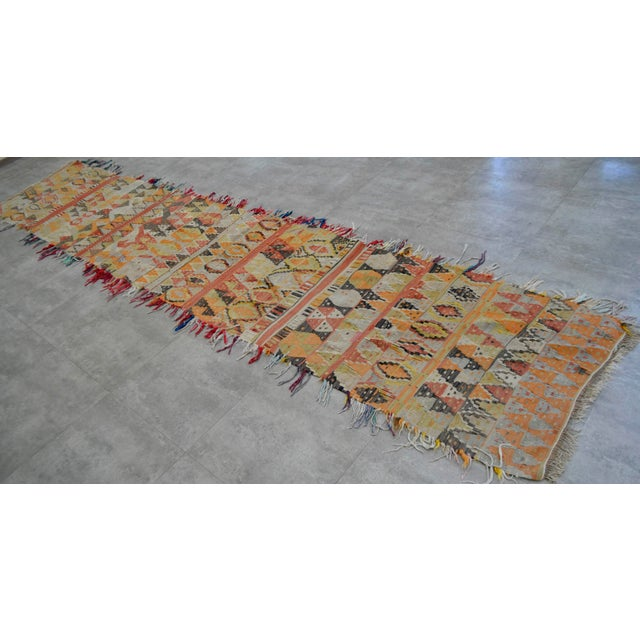 Material: The original runner is made of wool on wool Condition: Used in Very Good Antique Condition. Age appropriate...