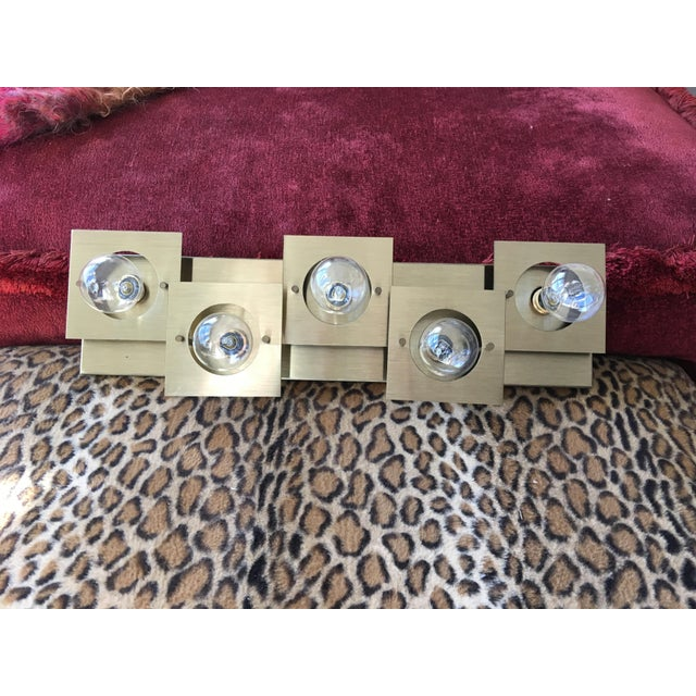 Brass Geometric Brass Wall Lamp/Sconce For Sale - Image 7 of 8