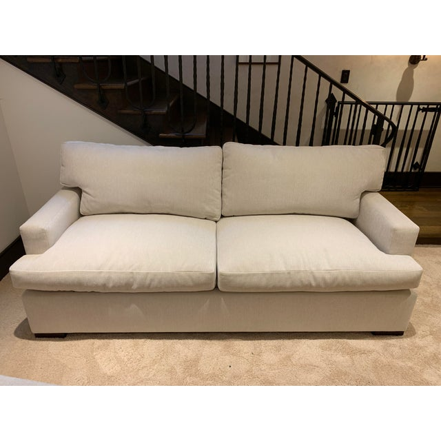 Lovely A. Rudin sleeper sofa. Fabric is in a creamy white. Barely used!