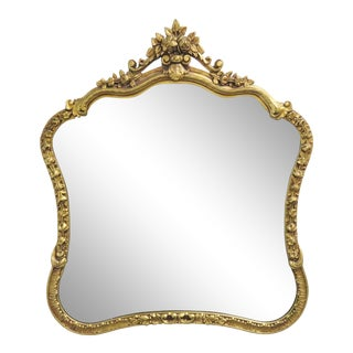 Italian Carved Gold Gilt Mirror