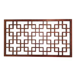 20th Century Vintage American Wood Geometric Wall Panel