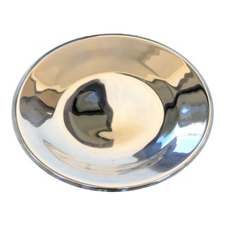 Mercury Glass Shallow Bowl/Plate For Sale