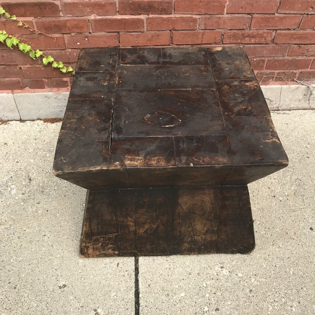 Industrial Chic Antique Table For Sale In Chicago - Image 6 of 9