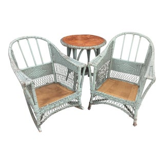 Vintage Wicker Porch Set - Set of 3