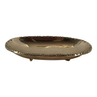 Vintage Footed Brass Oval Dish