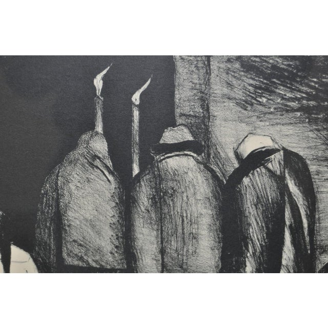 "Jose Clemente Orozco ""The Requiem"" Pencil Signed Lithograph c.1928 - Image 6 of 8"