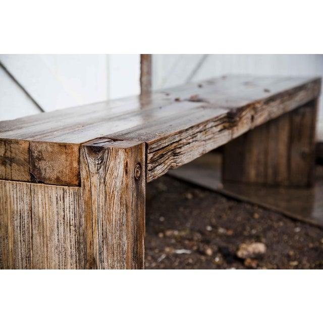Reclaimed Wood Garden Loveseat Bench - Image 7 of 9