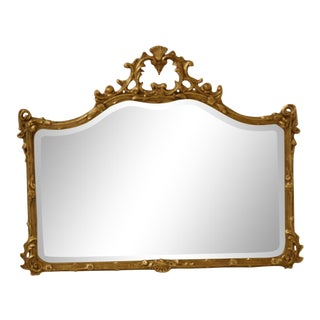 Friedman Brothers Gold Framed Horizontal Mirror For Sale