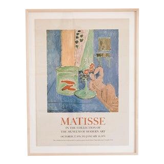 Matisse Vintage 1978 Moma Art Exhibition Poster, Framed For Sale