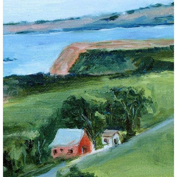 2010s Irish Beach Barn Highway One Painting For Sale - Image 5 of 7
