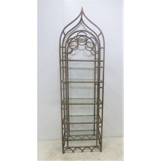 Gothic Faux Bamboo Metal Etagere Preview