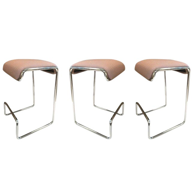 Three Bar Stools by Design Institute of America For Sale