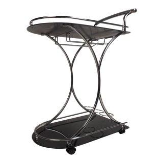 Mid-Century Modern Italian Serving Cart For Sale