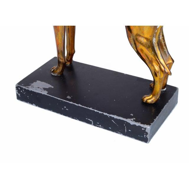 Bronze Greyhound on Black Metal Base - Image 6 of 7
