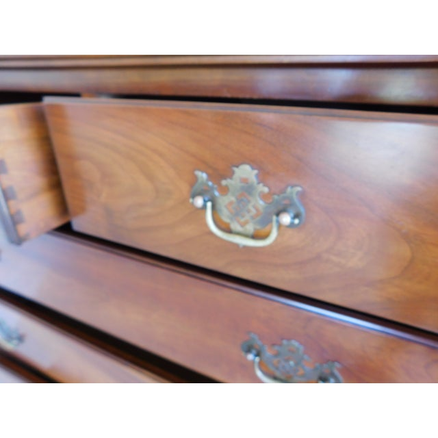 Stickley Chippendale Style Solid Cherry 6 Drawer Tall Chest For Sale In Philadelphia - Image 6 of 12