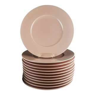 Mid 20th Century Rose Pink Mikasa Chargers - Set of 12 For Sale