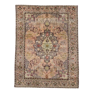 Vintage Turkish Sivas Rug in Soft Pastel Colors in Art Nouveau Style