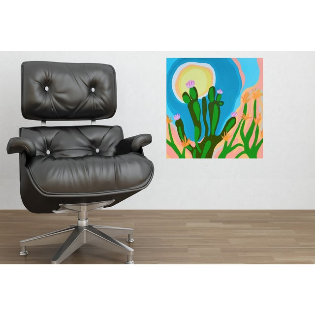 Affordable work from my studio. Graphic mid-century Inspired desert landscape painting. Bold composition. Add a dramatic...