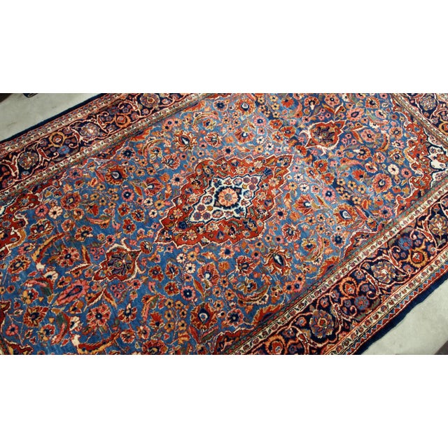 1900s, Handmade Antique Persian Kashan Rug 4.1' X 6.6' - 1b706 For Sale - Image 4 of 12