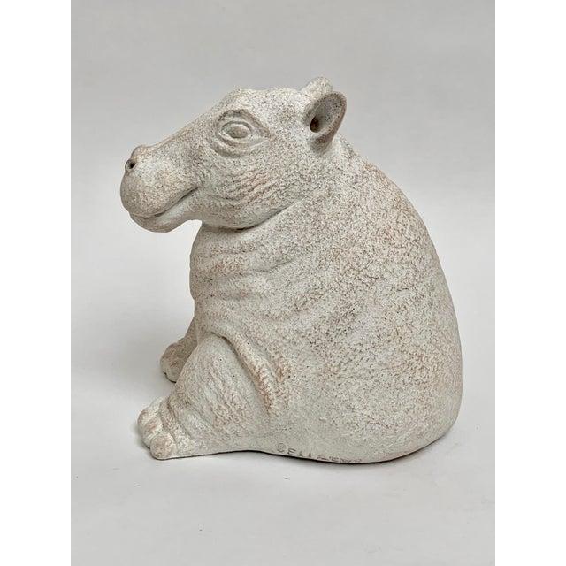 "Heavy, cast plaster ""Mama Hippo"" sculpture by Paul Bellardo for Austin Productions. Bellardo, a renowned 20th century..."