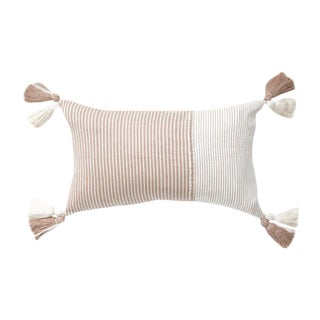 Guatemalan Blush and White Striped Pillow