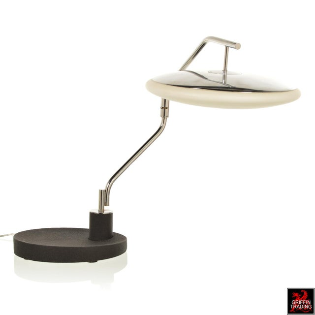 Chrome Italian Desk Lamp with Swing Arm For Sale - Image 4 of 11