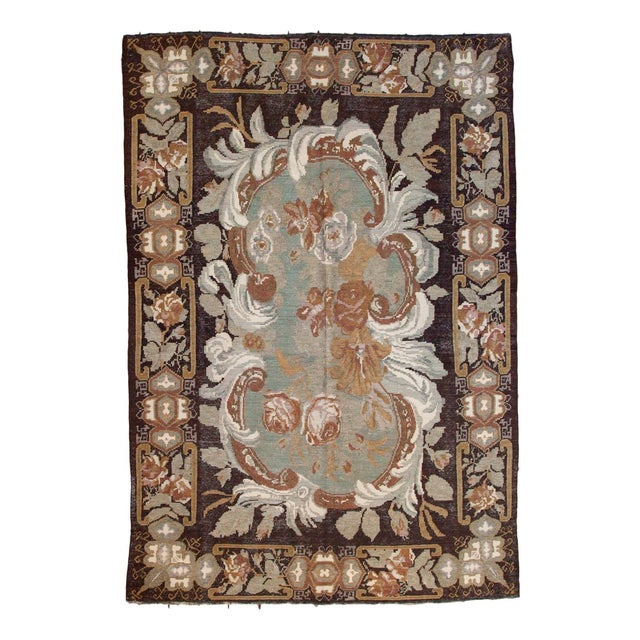 "Vintage Turkish Kilim Carpet - 6' x 8'9"" - Image 1 of 6"