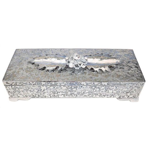 Vintage Rhinestone Embellished Jewelry box - Image 1 of 5