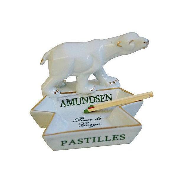 French Porcelain Amundsen Match Striker Ashtray - Image 7 of 7
