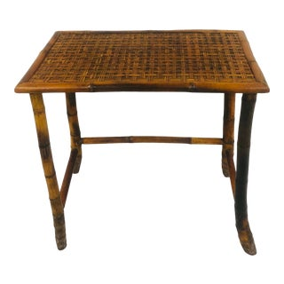 Late 20th Century Child's Rattan Writing Desk For Sale