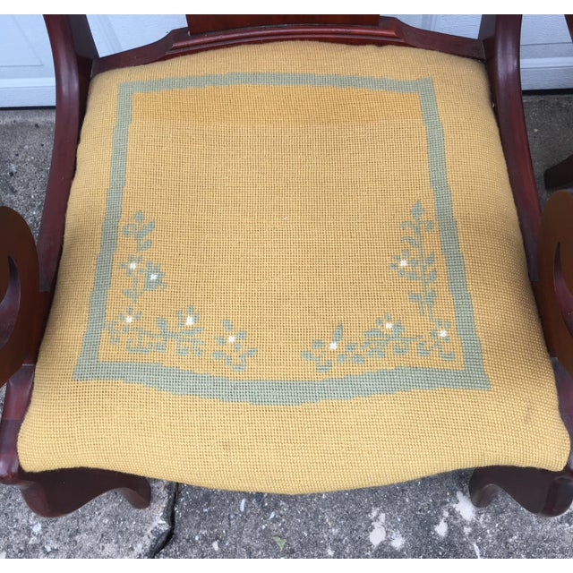 Cherry Arm Chairs - A Pair - Image 5 of 5