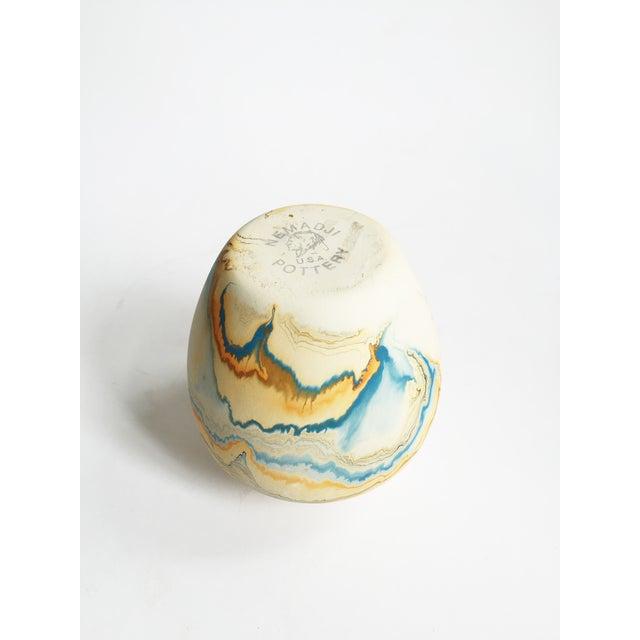 Vintage Blue & Orange Nemadji Pottery Vase - Image 5 of 5