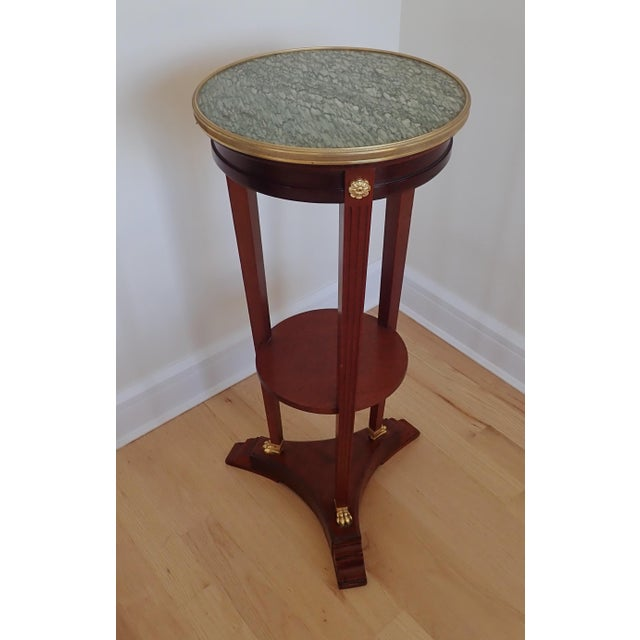 Mahogany Marble Top Pedestal For Sale - Image 9 of 9