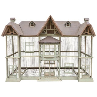 Large Handmade Vintage French Dovecote Bird Cage For Sale