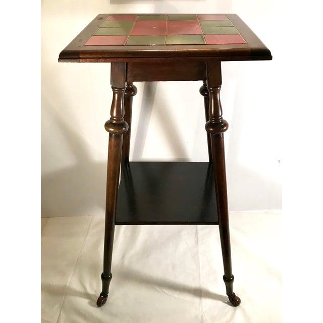 Antique Tile Top Pub Table For Sale In Dallas - Image 6 of 11