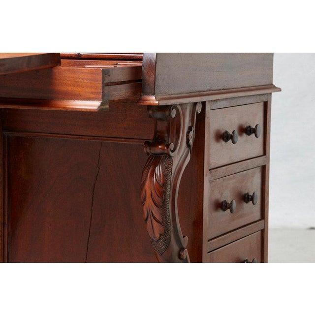 20th Century Walnut Piano Top Davenport Desk For Sale - Image 11 of 13