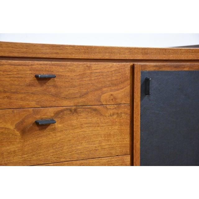 Walnut and Black Vinyl Armoire Dresser - Image 4 of 11