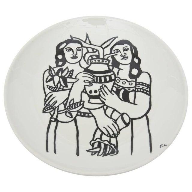 White After Fernand Leger Porcelain Plate For Sale - Image 8 of 8