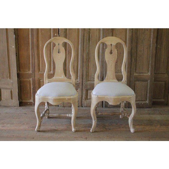 Late 18th Century Swedish Dining Room Chairs - a Pair For Sale In Los Angeles - Image 6 of 6
