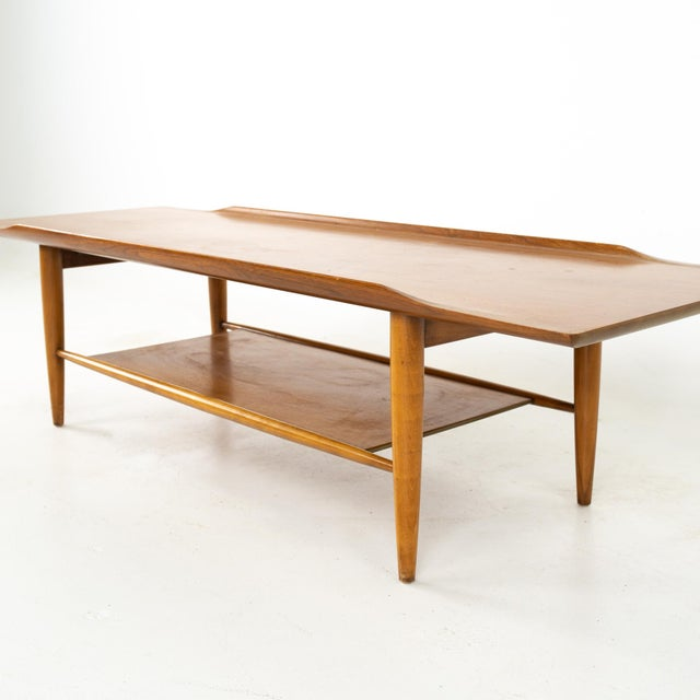 Wood Grete Jalk Style Mersman Mid Century Surfboard Mahogany Coffee Table For Sale - Image 7 of 11