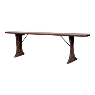 Rustic Italian Renaissance Style Fruitwood Bench (19th Century) For Sale