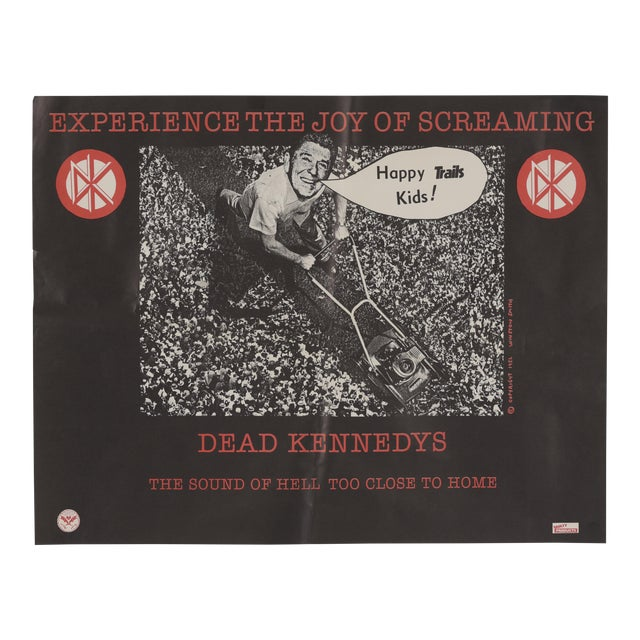 """1982 Dead Kennedys """"The Sound of Hell Too Close to Home"""" Promotional Poster Ronald Reagan For Sale"""