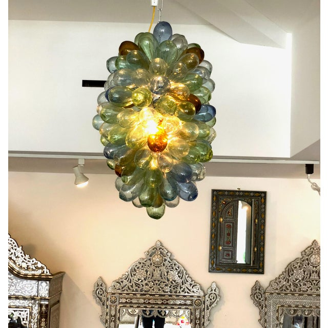 Contemporary Syrian Handblown Glass Light Fixture For Sale - Image 3 of 7