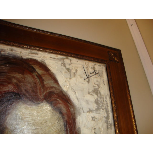 """""""Young Lady With Flowing Hair"""" Oil on Canvas Portrait Painting For Sale - Image 5 of 6"""