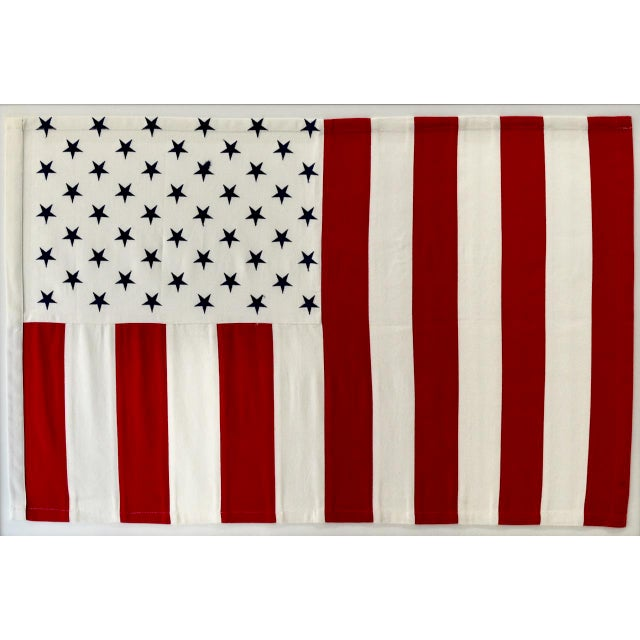 Vertical 50 Star American Flag, Wall Art Decor For Sale - Image 4 of 4