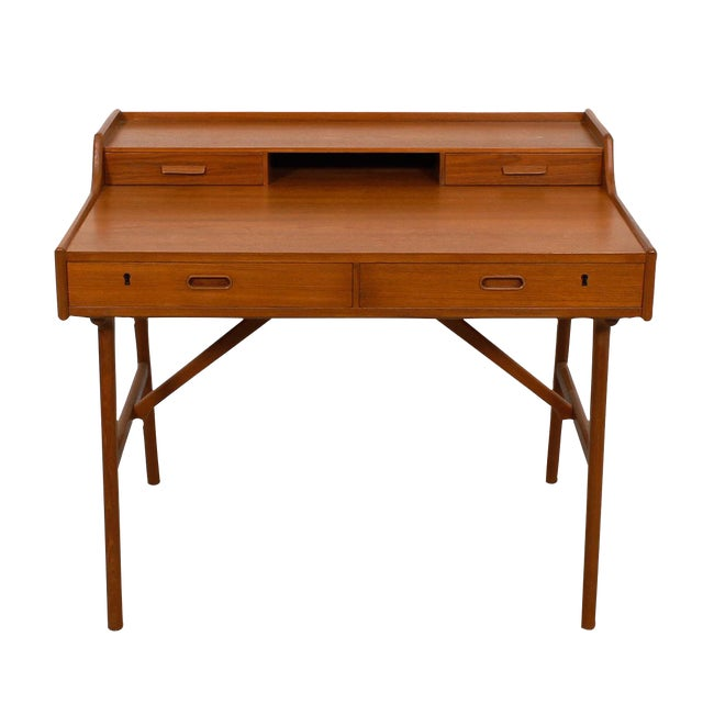 Iversen Danish Teak Writing Desk - Image 1 of 8