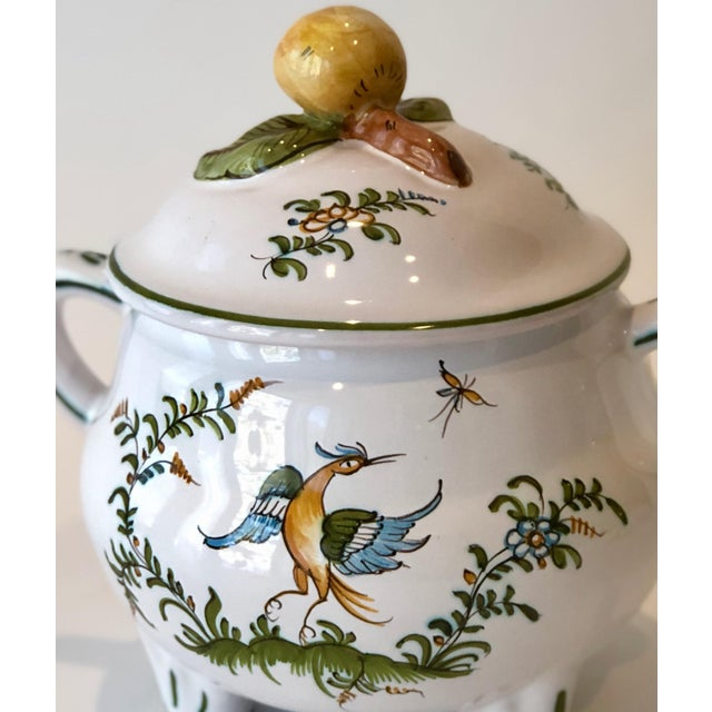 French Provincial Provencal Earthenware Serving Pot For Sale - Image 3 of 12