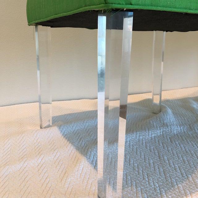 Green Silk Acrylic Chair - Image 3 of 9