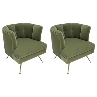 Adesso Imports 1960s Style Italian Lounge Chairs - a Pair For Sale